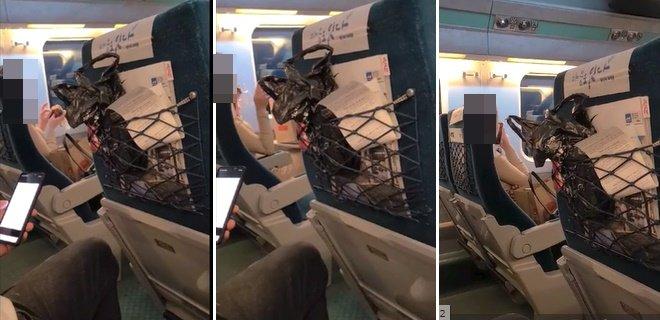KTX 열차 안에서 음식물을 먹다 다른 승객으로부터 항의를 받자 막말을 한 여성이 사건을 알린 승객에게 사과했다. /사진=온라인 커뮤니티 영상 캡처