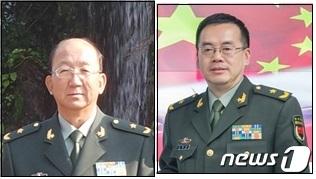 육군 소장 츠궈웨이(왼쪽)와 육군 소장 송옌차오(오른쪽), 국방부 제공© 뉴스1