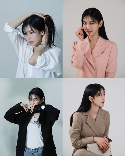 배우 김소연의 비하인드 컷이 공개됐다. /사진=제이와이드컴퍼니