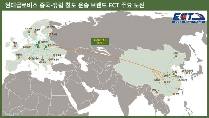 현대글로비스가 중국 최대 물류업체 '창지우(長久)'와 손잡고 중국·유럽 간 물류사업을 확장한다.