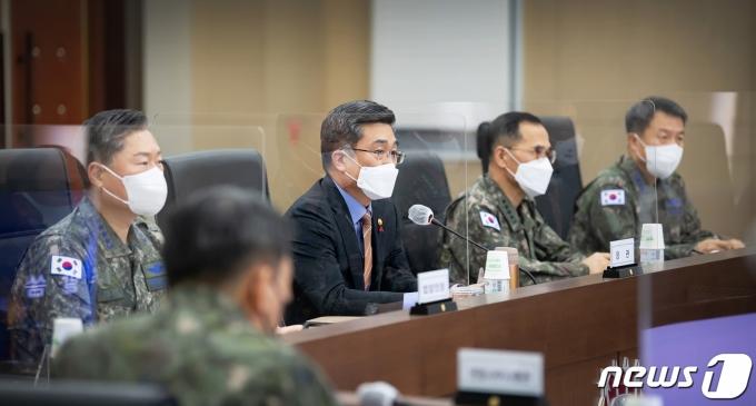 지난해 12월 서울 용산구 국방부 청사에서 2차 전작권 추진 평가회의가 진행되고 있다. (국방부 제공) 2020.12.28/뉴스1