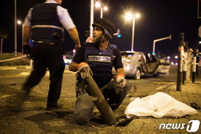 팔레스타인의 이스라엘 경찰들의 모습 <자료 사진>© 로이터=뉴스1