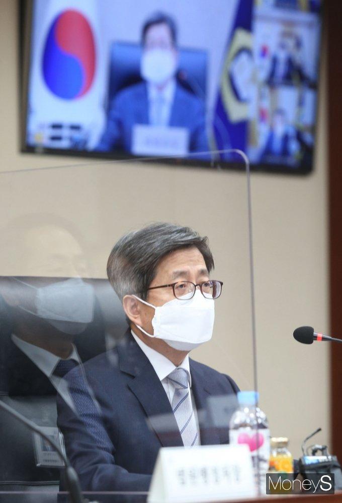 """[머니S포토] 김명수 """"대법원장으로 법원·재판의 독립을 지키기 위해 변함없는 노력 다할 것"""""""