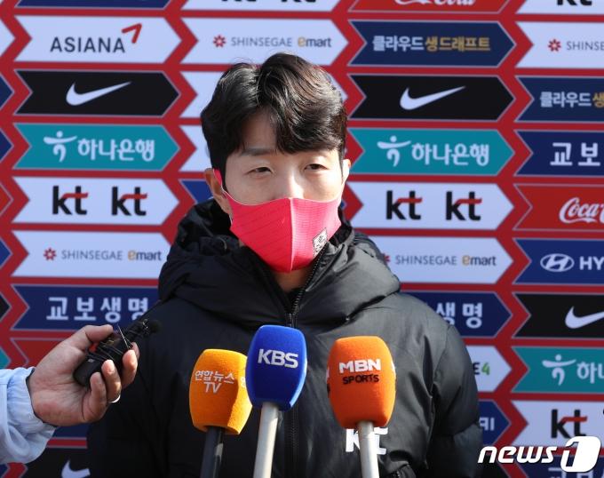 여자 축구 대표팀의 김혜리가 새롭게 발표된 올림픽 플레이오프 일정에 대한 소감을 밝혔다.© News1