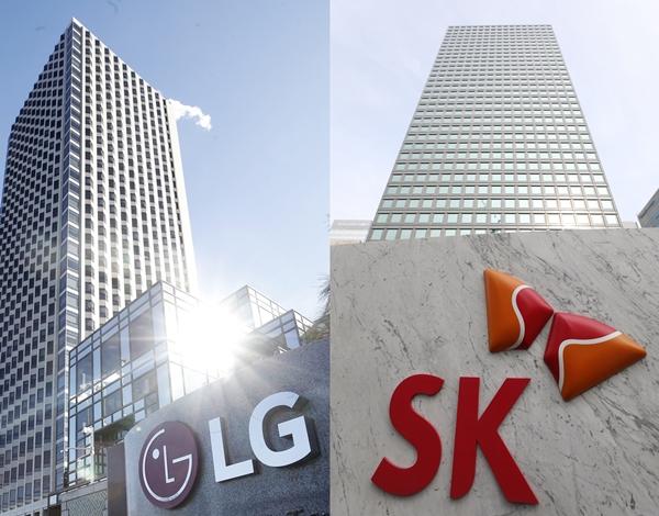 LG 여의도 트윈타워(왼쪽)와 SK 서린사옥. /사진=뉴스1