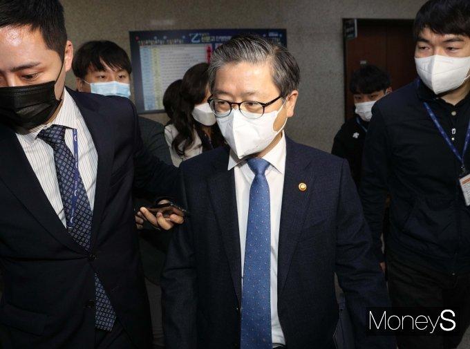 [머니S포토] 이낙연 대표에게 LH 투기 의혹 관련 문책 당한 변창흠