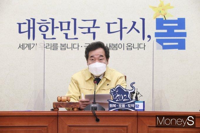 """[머니S포토] 이낙연 """"윤석열 사퇴, 상식적이지 않은 뜬금없는 처신"""""""