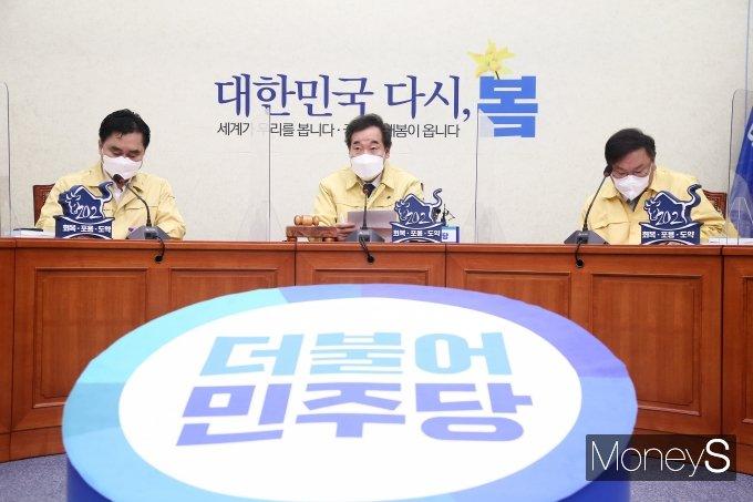 [머니S포토] 민주당 최고위원회, 발언하는 이낙연 대표