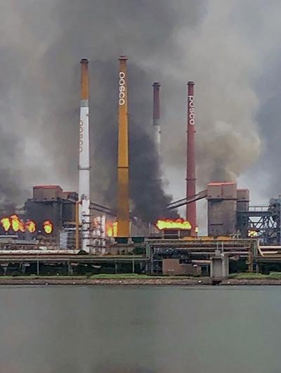 지난 2019년 7월1일 포스코 광양재철소 1코크스공장에서 화재가 발생했다. /사진=뉴스1