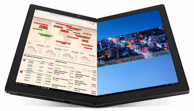 폴더블 디스플레이를 장착한 투인원 노트북 '레노버 씽크패드 X1 폴드' /사진=한국레노버