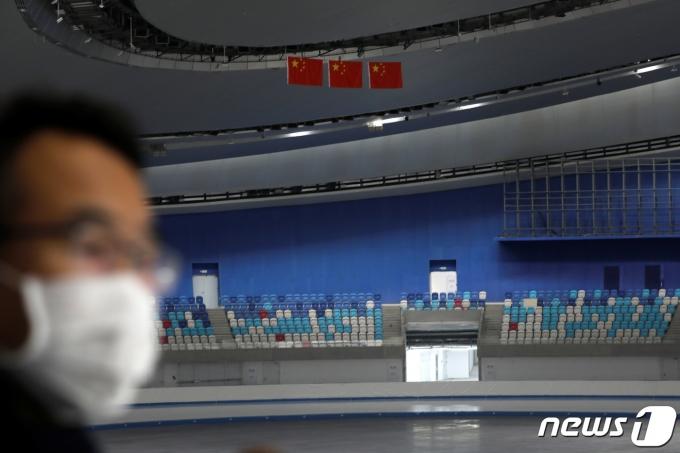 2022년 베이징올림픽 경기장으로 쓰일 중국 국립 스피드 스케이팅 오벌. © 로이터=뉴스1