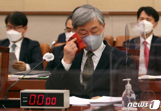 최재형 감사원장이 지난 2월 국회에서 열린 법제사법위원회 전체회의에 출석한 모습. /사진=뉴스1