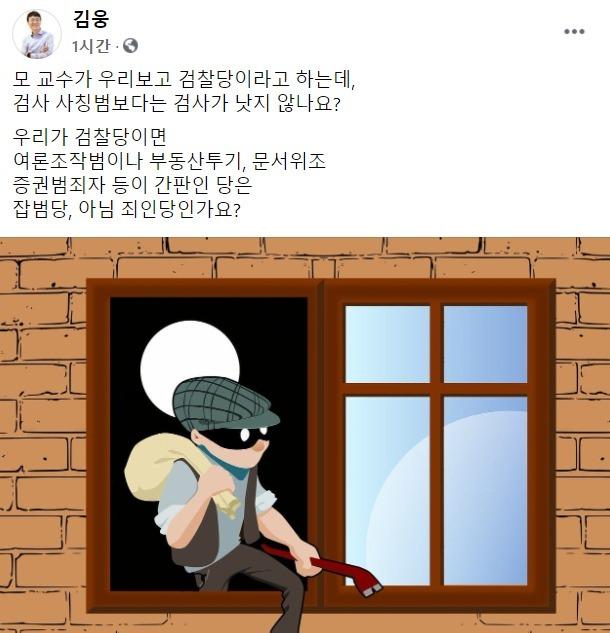 (김웅 국회의원 페이스북 갈무리)© 뉴스1