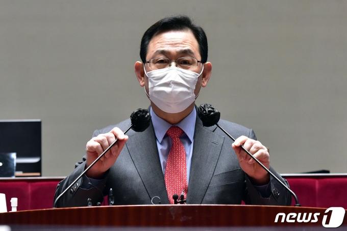 주호영 국민의힘 원내대표. 2021.3.5/뉴스1 © News1 신웅수 기자