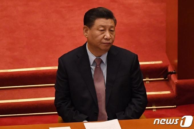 시진핑 중국 국가주석이 4일(현지시간) 베이징 인민대회당에서 열린 전국인민정치협상회의 개막식에 참석을 하고 있다. © AFP=뉴스1 © News1 우동명 기자