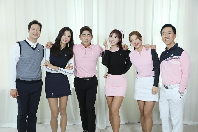 ▲조도현,김가형,박상준,진달래,김다나,허석호(좌측부터)©SBS골프