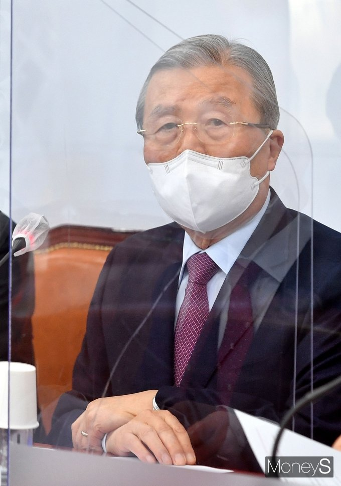 """[머니S포토] 김종인 비대위 """"LH 사태, 검찰의 엄밀한 수사 강력 요구"""""""