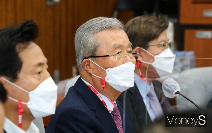 [머니S포토] 시·도당위원장 연석회의에서 발언하는 김종인 위원장