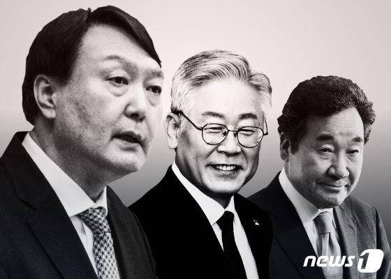 윤석열 전 검찰총장과 이재명 경기지사, 이낙연 민주당 대표. / 사진=뉴스1