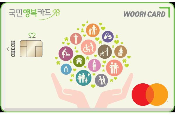'국민행복체크카드 S2'./사진=우리카드