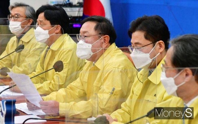 [머니S포토] 한달 여 앞 4. 7 재보선, 발언하는 민주당 '김태년'