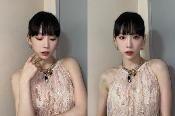 가수 태연이 아름다운 여신 자태로 시선을 사로잡았다. /사진=태연 인스타그램