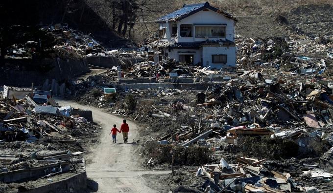 일본 정부가 후쿠시마 지역 재건을 위해 이주·정착 정책을 마련했다. 사진은 지난 2011년 동일본대지진으로 피해를 입은 이와테현 미야코시의 모습. /사진=로이터