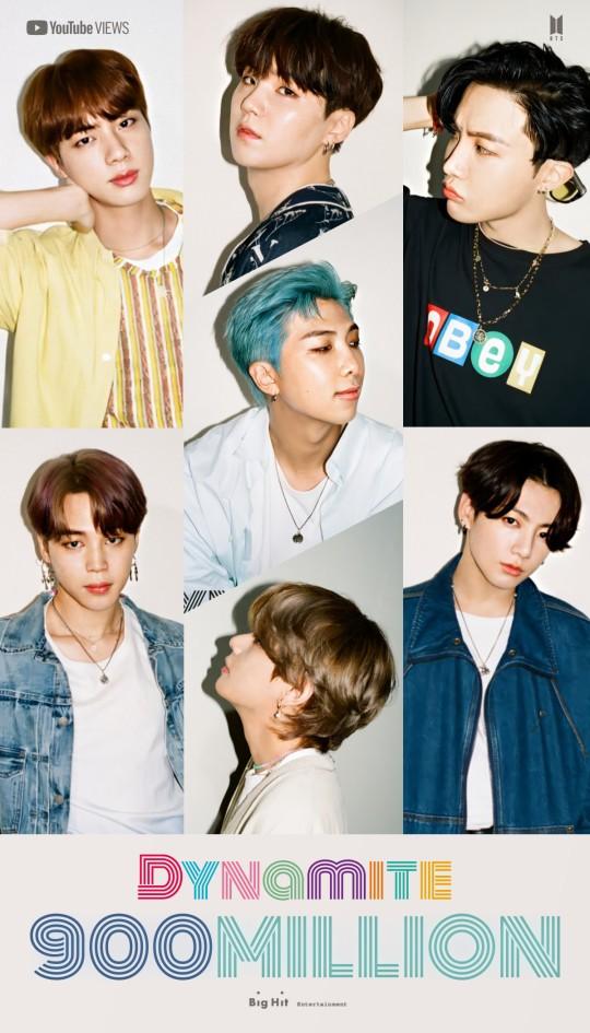 방탄소년단의 '다이너마이트' 뮤직비디오가 9억뷰를 달성했다. /사진=빅히트엔터테인먼트 제공