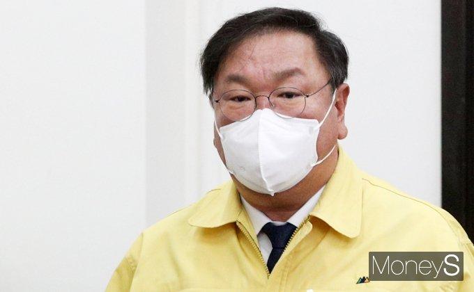 [머니S포토] 민주당 지도부, 오늘부터 김태년 체제 돌입