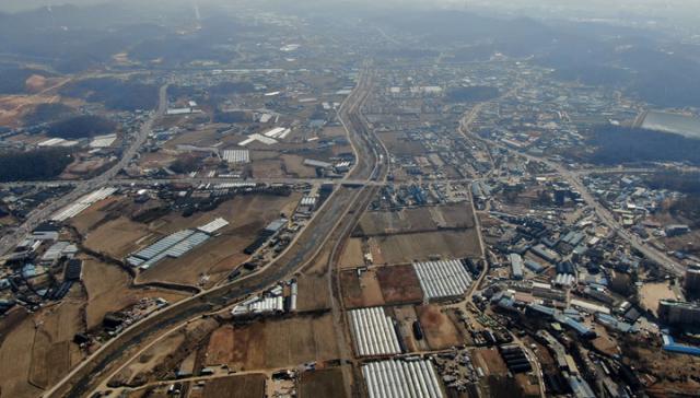 3기 신도시로 추가 지정된 광명·시흥 일대의 모습. / 사진제공=김동우 기자