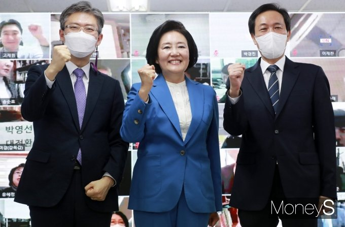 [머니S포토] 4.7 재보선 '박영선' 든든한 지원군들과 함께...