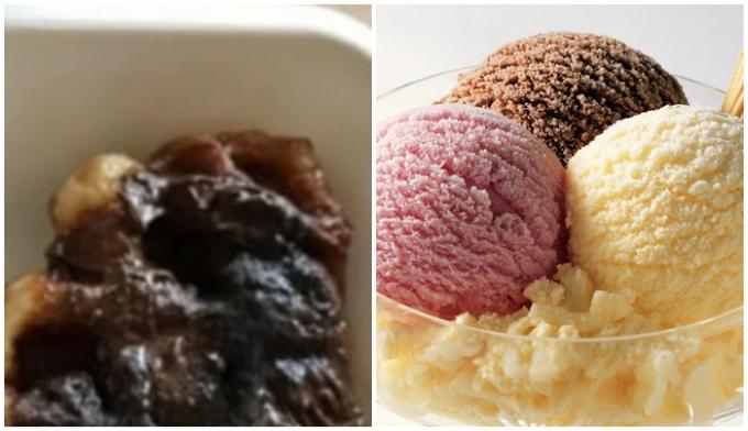 """젤라토 대신 시중에 판매되는 아이스크림이 나와 고객이 항의를 하자 카페 사장은 """"꺼지세요""""라는 댓글을 남겼다. /사진=커뮤니티 캡처, 이미지 투데이"""