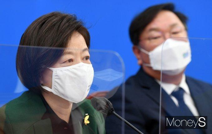 [머니S포토] 민주당 공직자 투기-부패근절 대책TF, 발언하는 진선미TF팀장