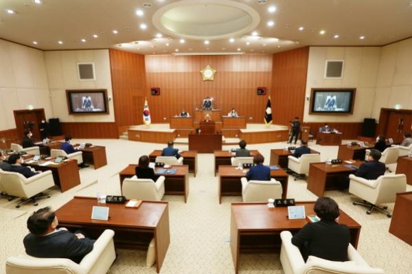 의정부시의회 제304회 개회식. / 사진제공=의정부시의회