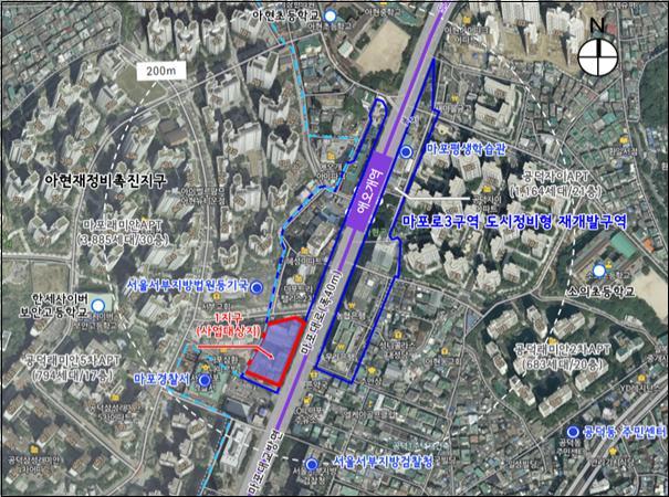 서울시는 17일 제3차 도시계획위원회를 개최하고 마포구 '마포로3구역 제1지구 도시정비형 재개발사업 정비구역 및 정비계획 변경결정(안)'을 '수정가결'했다. / 사진제공=서울시