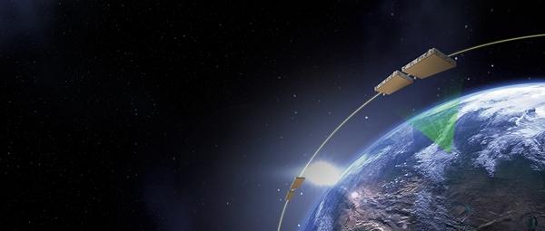 한화시스템이 개발하고 있는 초소형 합성개구레이더(SAR) 위성. /사진=한화시스템