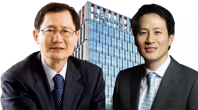 박찬구 금호석유화학 회장(왼쪽)과 박철완 상무. / 사진=금호석유화학