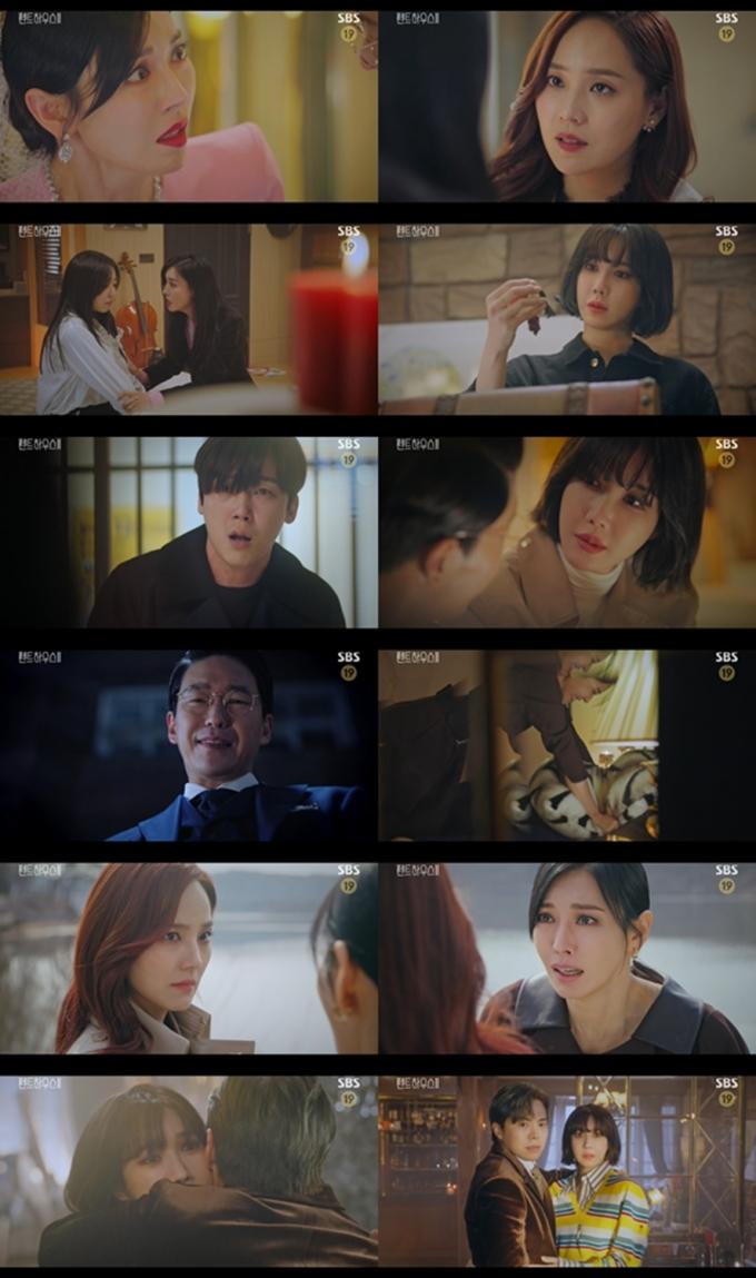SBS 금토드라마 '펜트하우스2'가 '배로나 살인사건'에 대해 유진과 김소연이 실마리를 풀어내고 있는 가운데 자체 최고 시청률을 경신했다./사진=SBS '펜트하우스2' 방송분