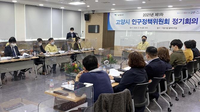 '2021년 제1차 고양시 인구정책위원회 정기회의' 장면. / 사진제공=고양시