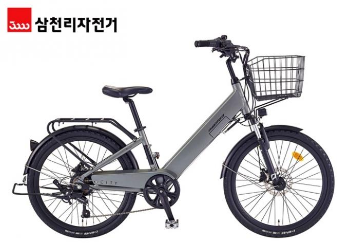 삼천리자전거가 29일 도심 주행에 최적화된 전기자전거 신제품 '팬텀 시티'를 출시했다. /사진제공=삼천리자전거