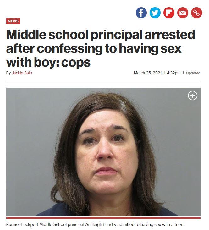 미국의 한 중학교 교장이 10대 청소년과 부적절한 관계를 맺었다고 자백했다. /사진=뉴욕포스트 홈페이지 캡처