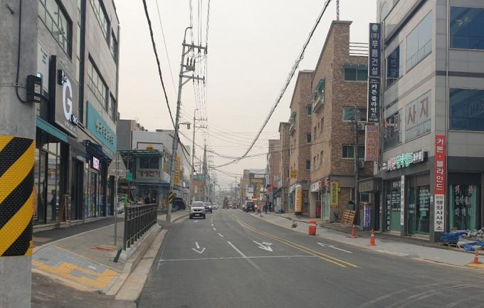 경기 광주시는 태전동 (구)이화전기 앞 중로 2-14호선 도로 확·포장 공사를 완료했다고 29일 밝혔다. / 사진제공=경기 광주시