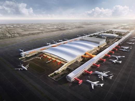 대만 타오위안 국제공항 제3터미널 조감도. /사진제공=삼성물산