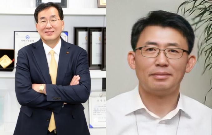 윤경근 KT IS 대표(왼쪽), 박경원 KT CS 대표 /사진제공=KT