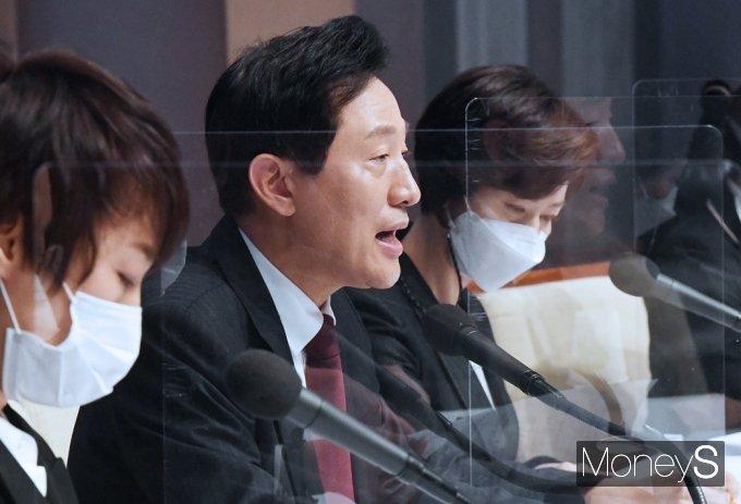 """[머니S포토] 관훈토론 오세훈 """"서울, 도시경쟁력 '세계 1위' 도시로 반드시 만들 것"""""""