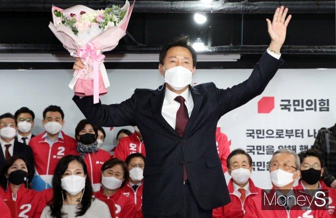 4·7 재보궐 선거에서 오세훈 후보가 서울시장에 당선됐다. /사진=임한별 기자