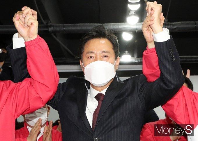 오세훈 후보가 10년 만에 서울시장으로 복귀했다. /사진=임한별 기자