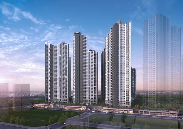 김해 푸르지오 하이엔드 2차 아파트 야경투시도/사진=대우건설