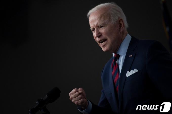조 바이든 미국 대통령이 7일(현지시간) 워싱턴 백악관에서