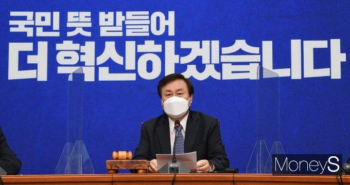 """[머니S포토] '민주당 첫 비대위' 도종환 """"내로남불에서 속히 나오겠다"""""""